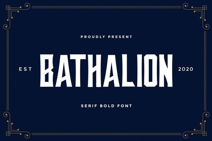 Bathalion Display Font
