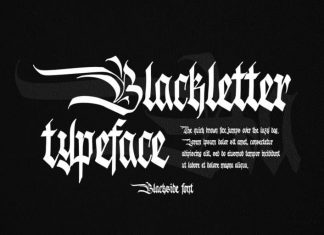 Blackside Blackletter Font