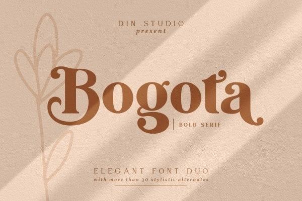 Bogota Serif Font
