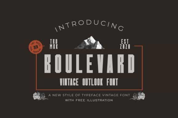 Boulevard Display Font