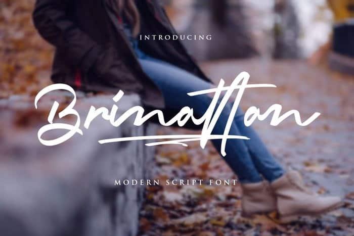 Brinattan Script Font
