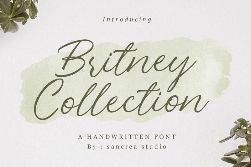 Britney Collection Handwritten Font