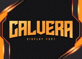 Calvera Display Font