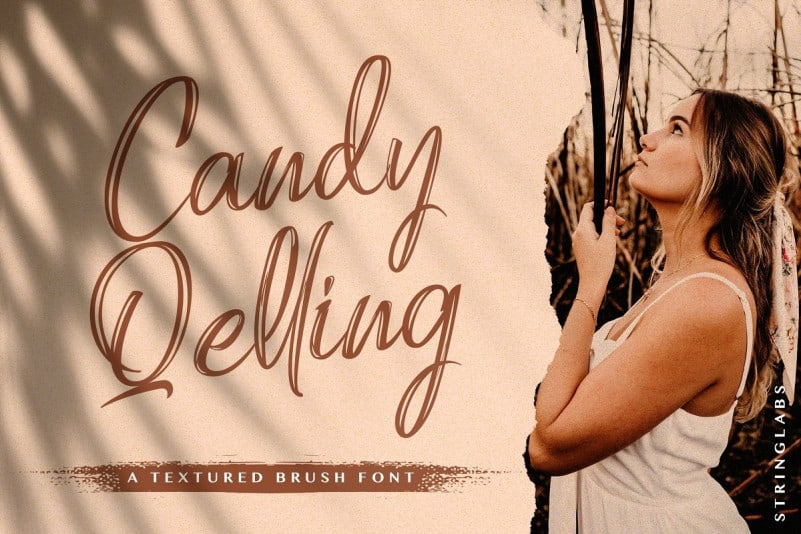Candy Qelling Brush Font