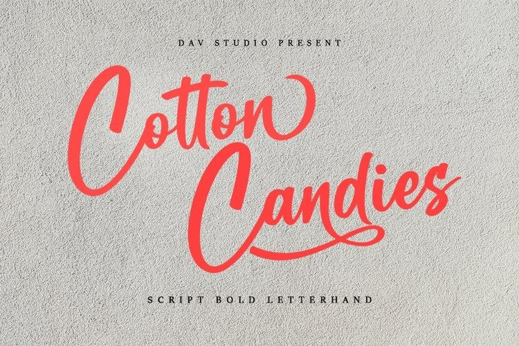 Cotton Candies Calligraphy Font