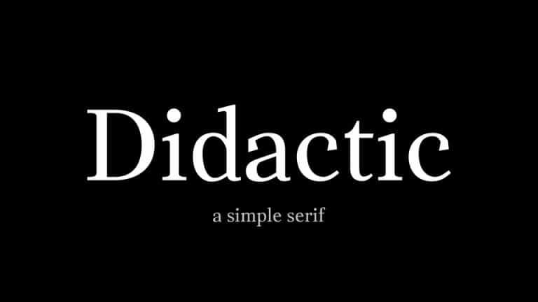 Didactic Serif Font