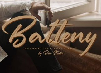 Batteny Brush Font