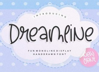 Dreamline Fun Monoline Handdrawn Font