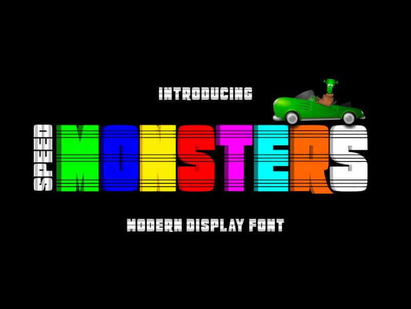 Speed Monsters Display Font