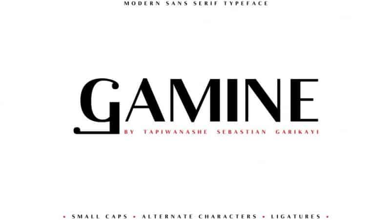 Gamine Sans Serif Font