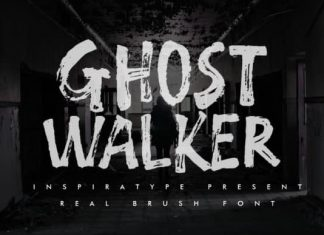 Ghost Walker Brush Font