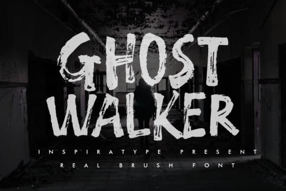 Ghost Walker Brush Font