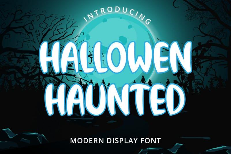Hallowen Haunted Display Font