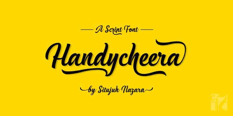 Handycheera Calligraphy Font