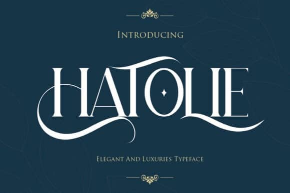 Hatolie Serif Font
