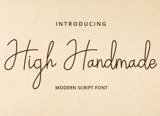 High Handmade Handwritten Font