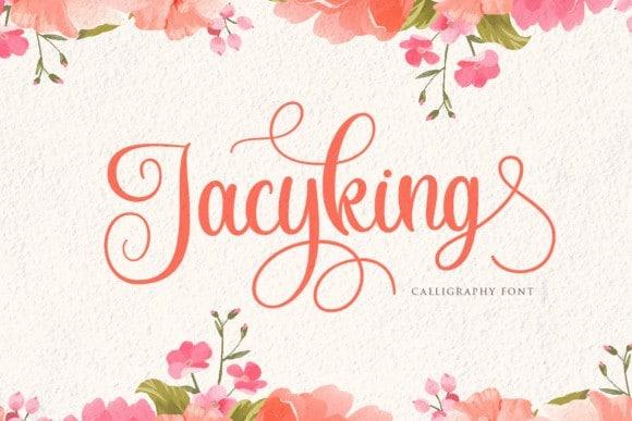 Jacyking Calligraphy Font