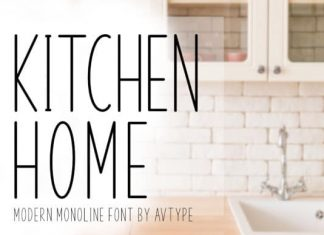 Kitchen Home Sans Serif Font