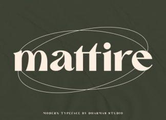Mattire Serif Font