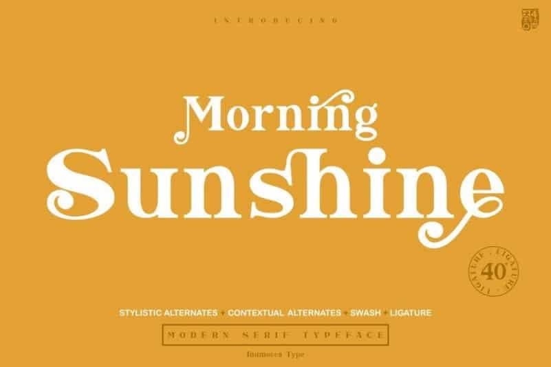 Morning Sunshine Serif Font
