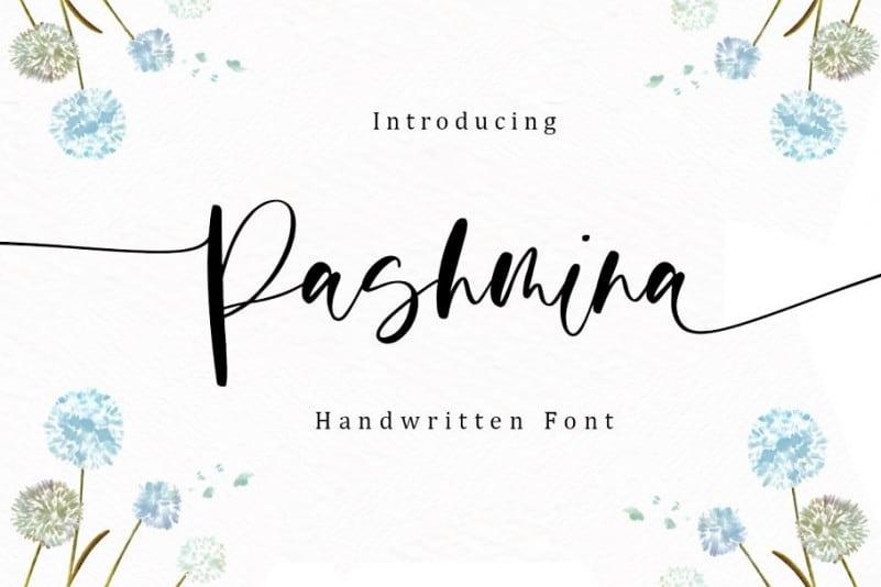 Pashmina Calligraphy Font