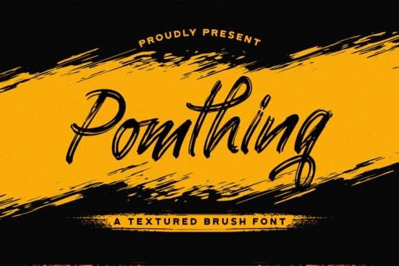 Pomthinq Brush Font