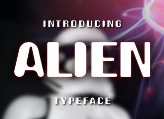 Alien Display Font