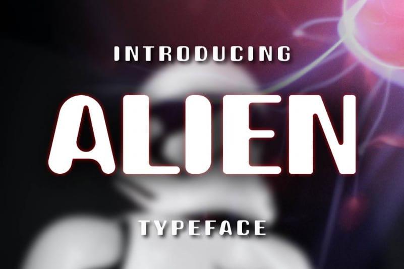 Alien Display Font