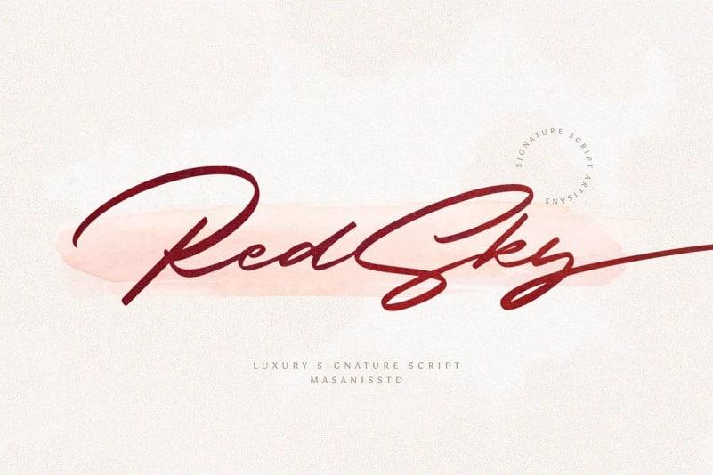 RedSky Script Font