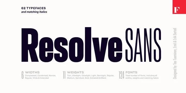 Resolve Sans Serif Font