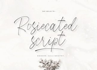 Rosiecated Script Font