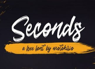 Seconds Brush Font
