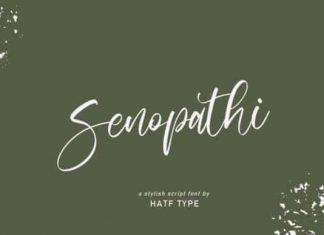 Senopathi Script Font