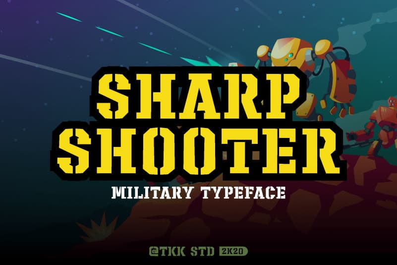 Sharpshooter Display Font