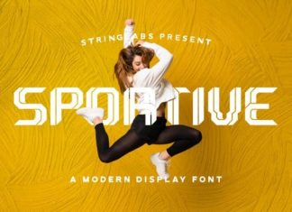 Sportive Display Font