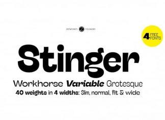 Stinger Sans Serif Font