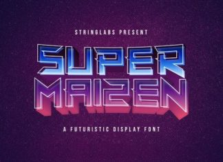 Super Maizen Display Font
