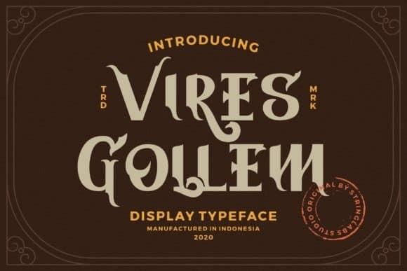 Vires Gollem Display Font