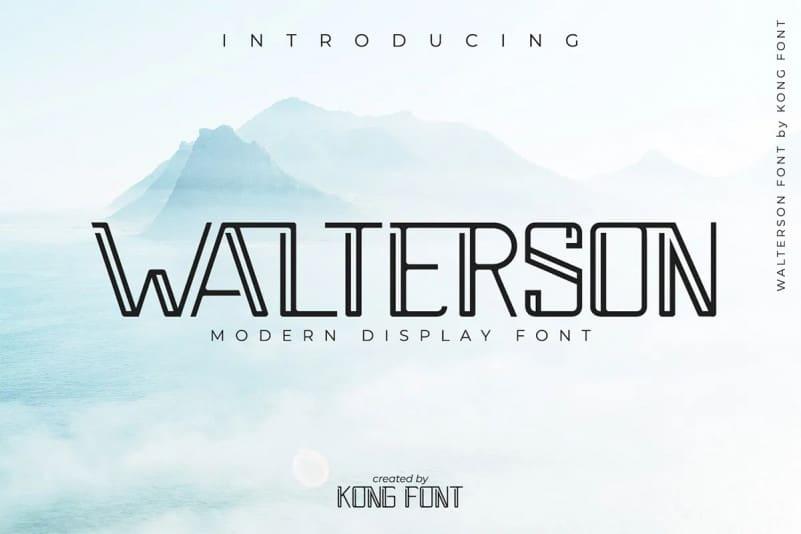 Walterson Display Font