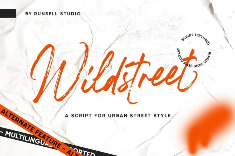Wildstreet Brush Font