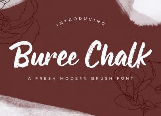 Buree Chalk Brush Font