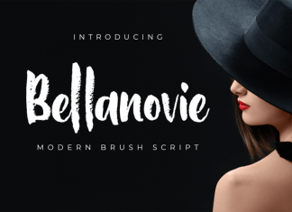 Bellanovie Brush Font