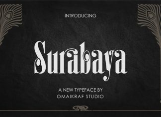 Surabaya Display Font