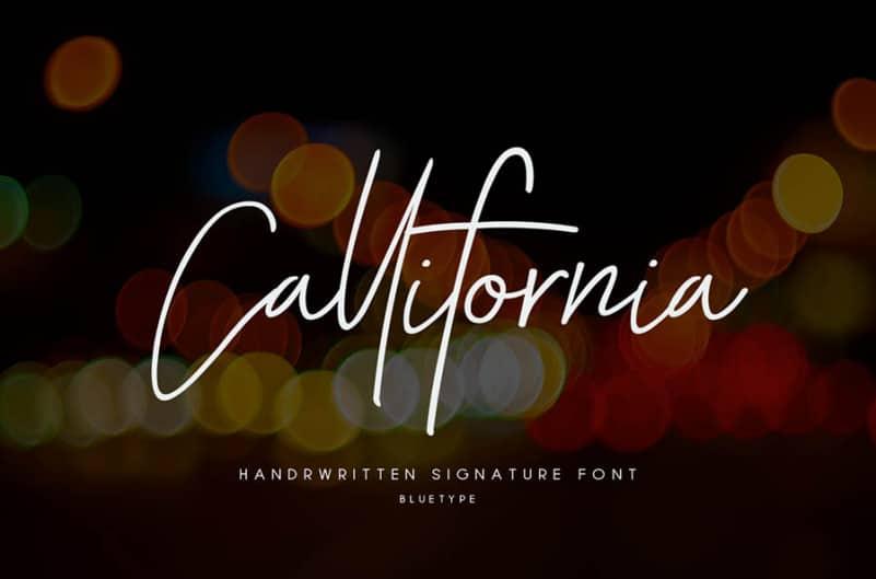 Callifornia Signature Font
