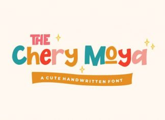 The Chery Moya Display Font