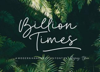 Billion Times Handwritten Font