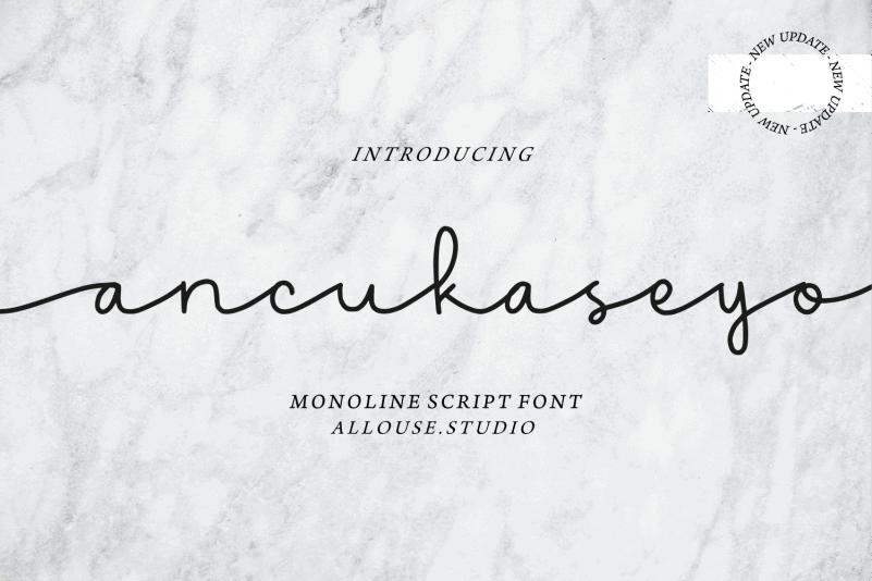 Ancukaseyo Script Font