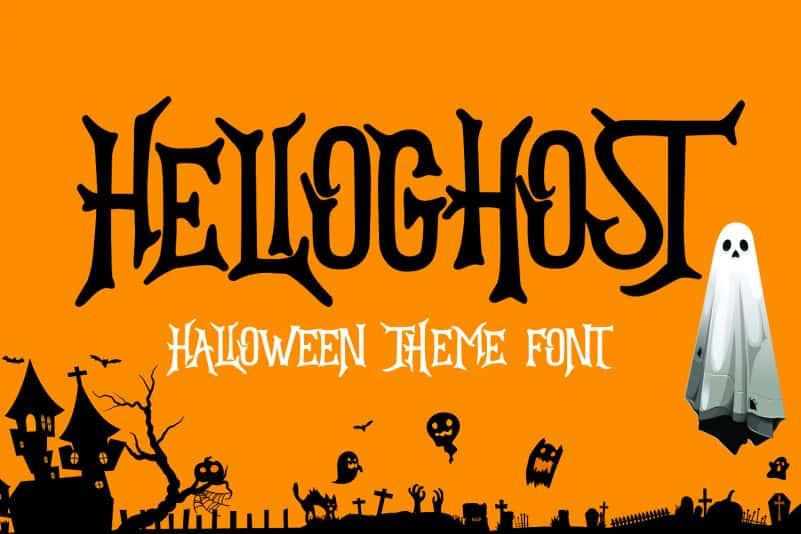 HELLOGHOST - Helloween Theme Font