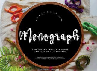 Monograph Script Font