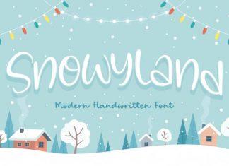 Snowyland Modern Handwritten Font